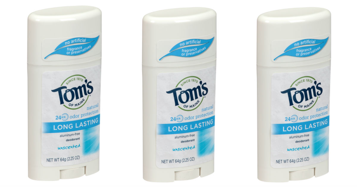 Tom's of Maine Deodorant Only $1.89 at Target (Reg. $5.99)