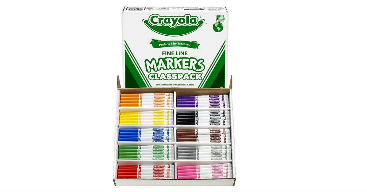 Crayola 200-Count Fine Line Markers ONLY $39.50 (Reg. $96)