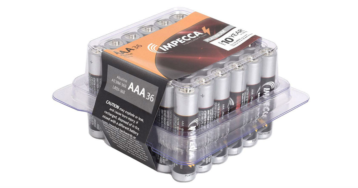 IPECCA Batteries 36-Count ONLY $9.49 (Reg. $19)