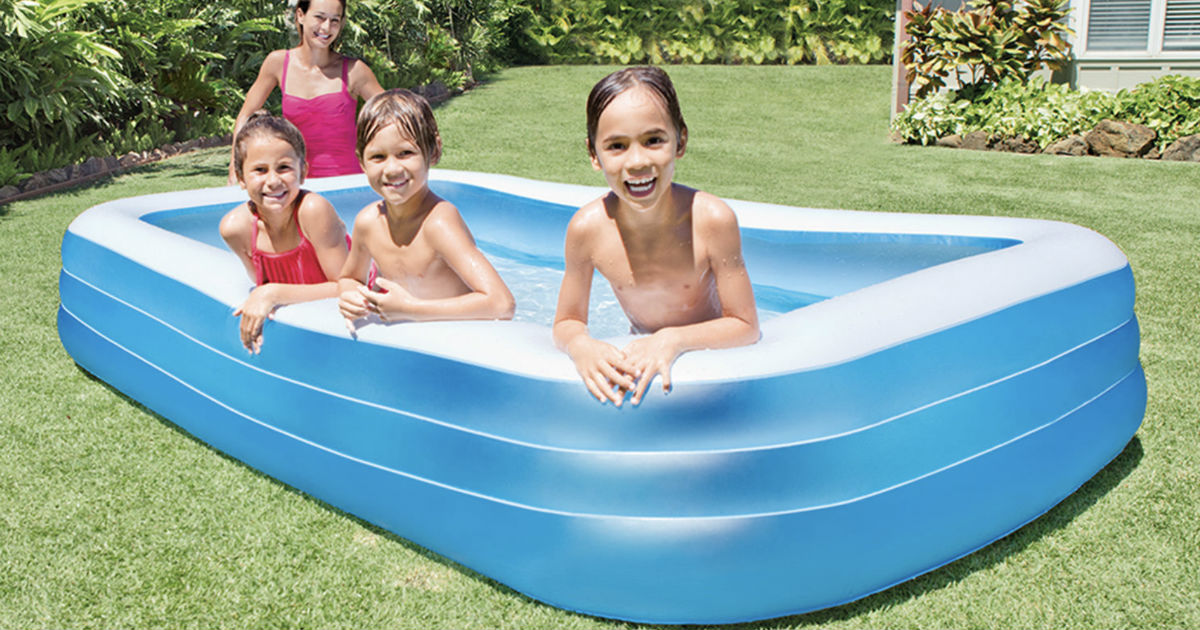 Intex Inflatable Family Lounge Pool ONLY $17 99 (Reg $35