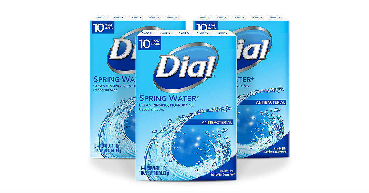 Dial Antibacterial Bar Soap 30-Count ONLY $11.21 (Reg $19)