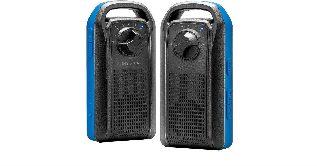 Insignia Portable Speaker w/ Walkie-Talkie ONLY $19.99 (Reg $60)