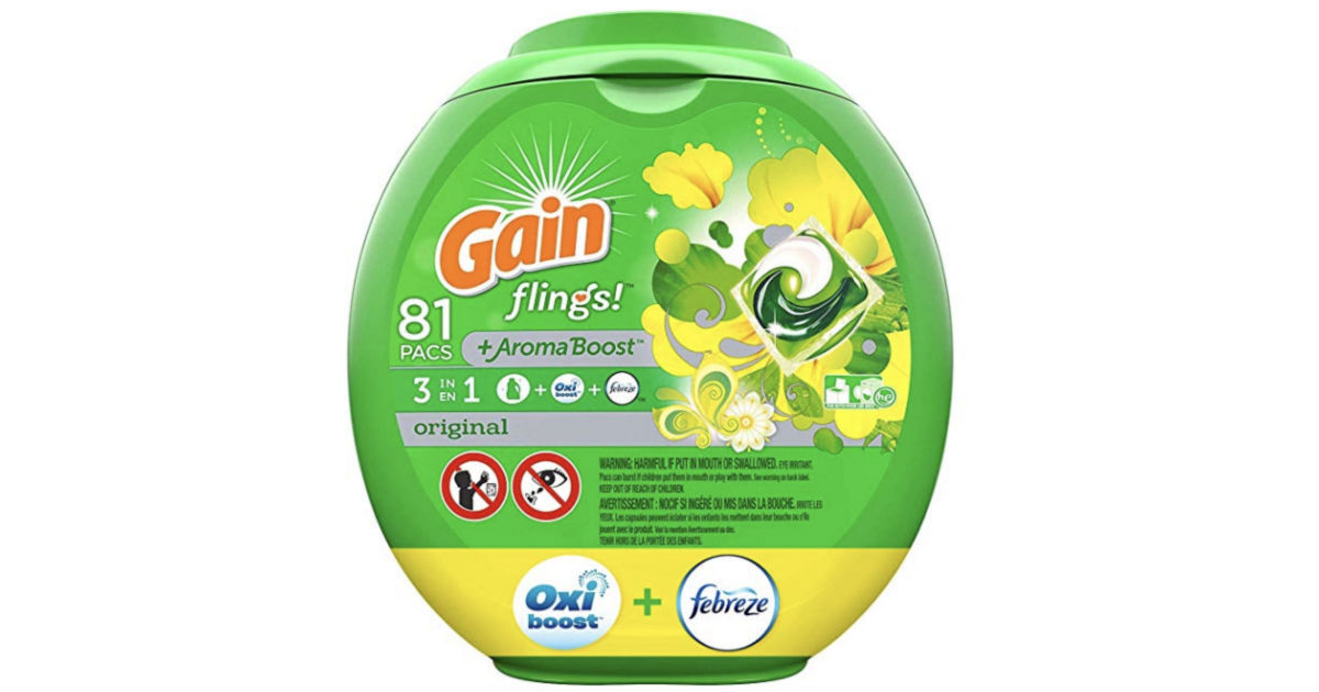 Gain Flings Liquid Laundry Detergent 81-ct Only $12.62 Shipped