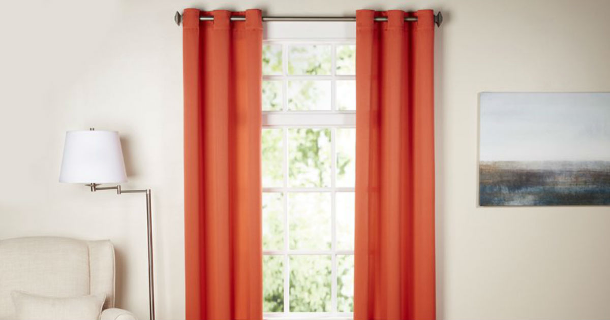 Solid Room Darkening Grommet Curtains ONLY $8.99 (Reg. $40)