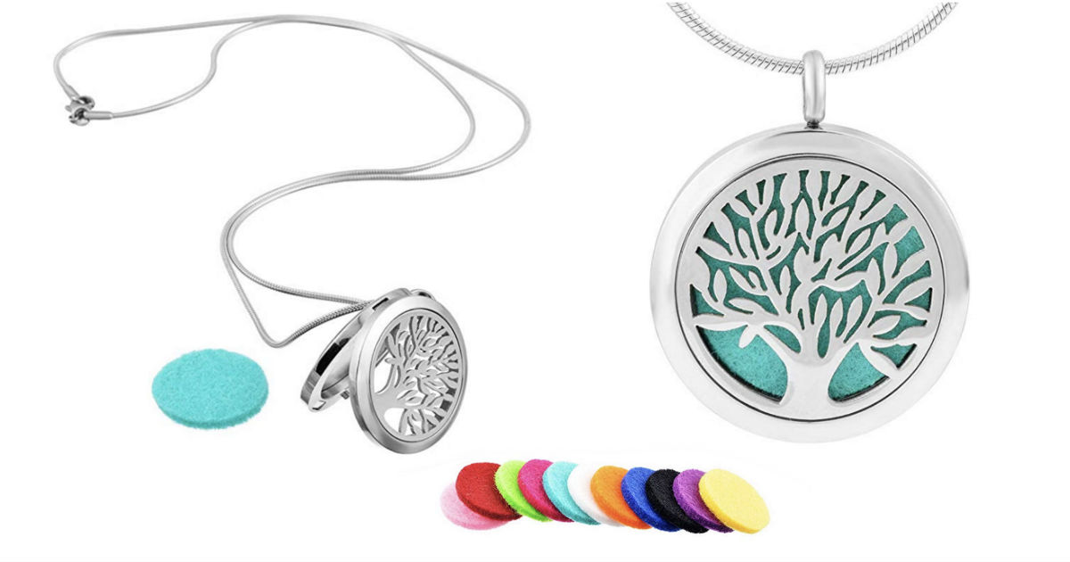 Aromatherapy Essential Oil Diffuser Pendant Necklace ONLY $2.99
