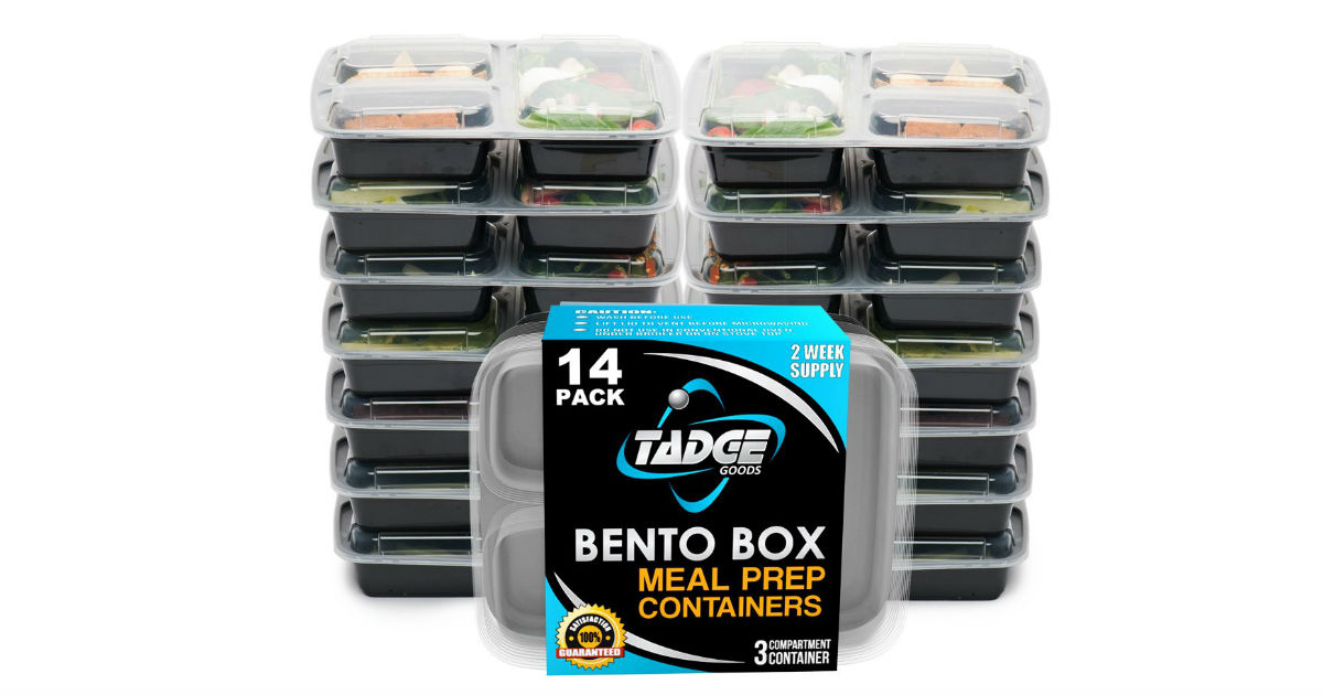 Bento Box Meal Prep Containers ONLY $13.99 (Reg. $30)