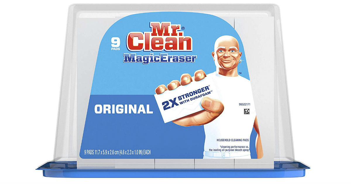 Mr. Clean Magic Eraser 9ct ONLY $4.99 Shipped on Amazon