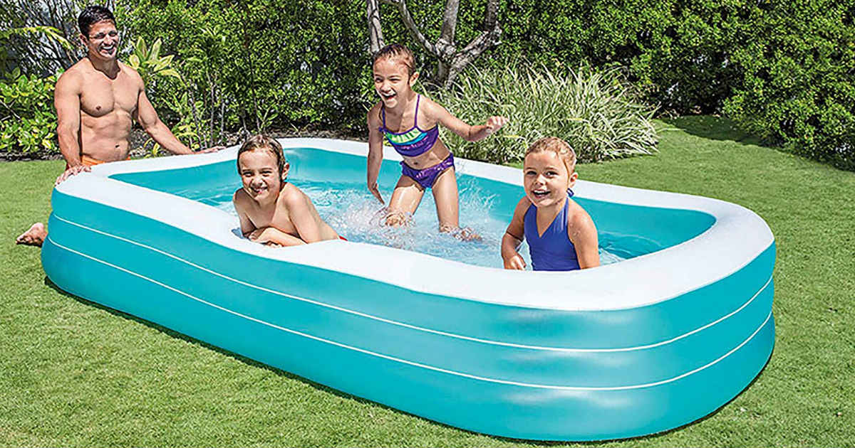 Intex Family Inflatable Pool ONLY $17 99 (Reg  $40) - Daily