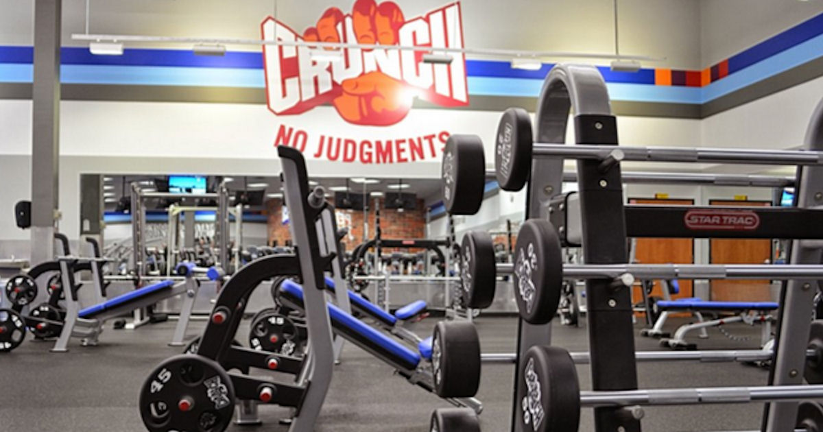 FREE 1-Day Pass to Crunch Gym.