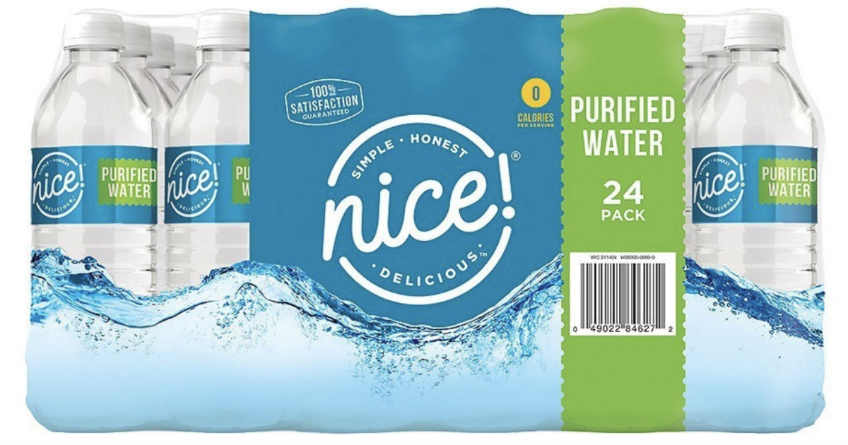 Nice! Purified Water 24-Packs ONLY $1.49 at Walgreens