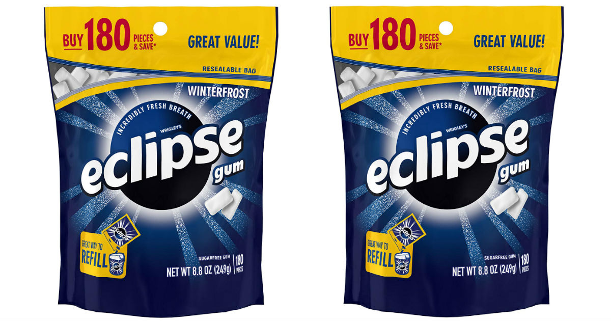 Eclipse Winterfrost Sugarfree Gum 180-pieces ONLY $6.68 Shipped