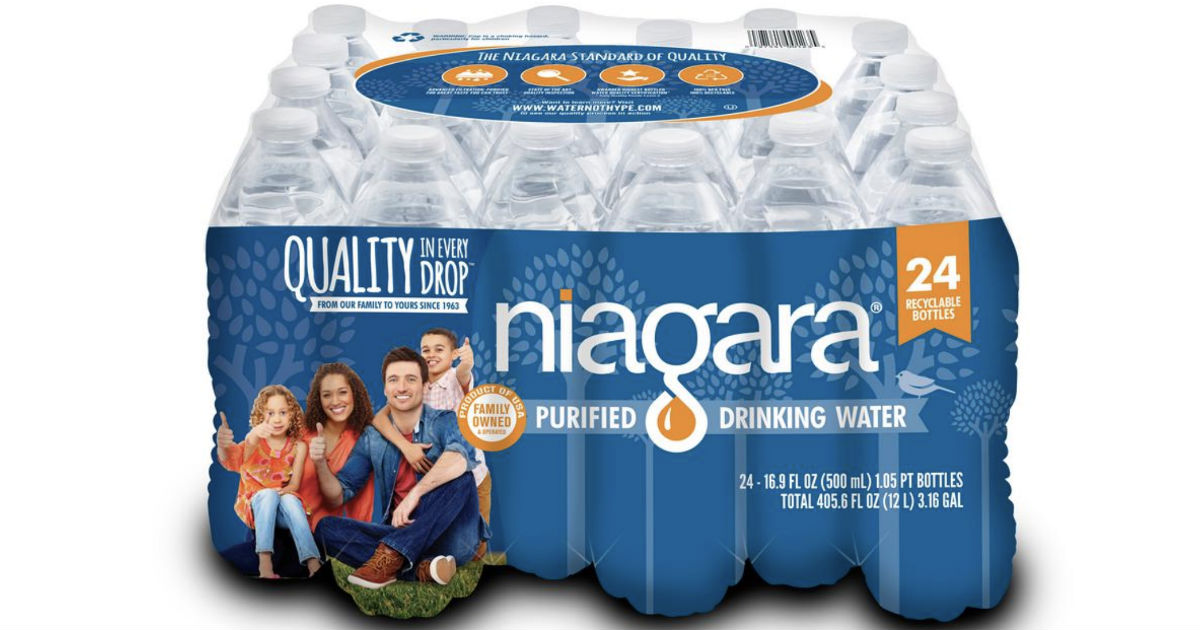 Niagara Bottled Water 24-Pack Only $1.98 at Home Depot