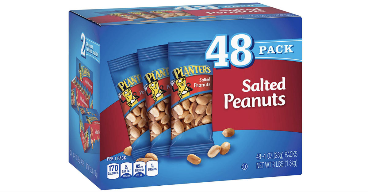 Planters Salted Peanuts 48-Pack ONLY $7.48 Shipped