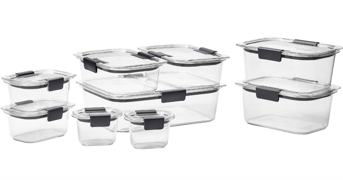 Rubbermaid Brilliance Food Storage Set 18-Pc ONLY $18.99 (Reg $30)