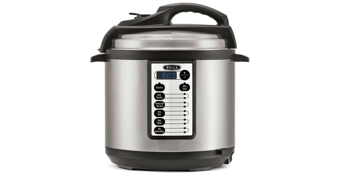 BELLA Multi-Use 6-Quart Pressure Cooker ONLY $39.99 (Reg. $80)