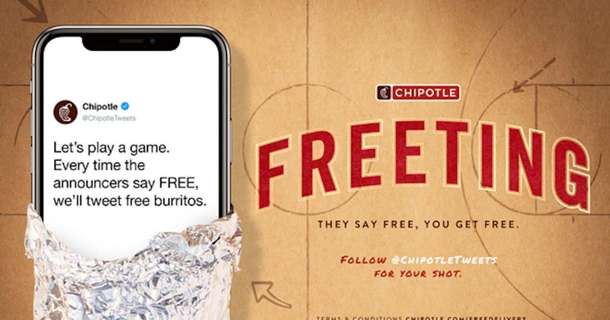 chipotle nba giveaway free burritos