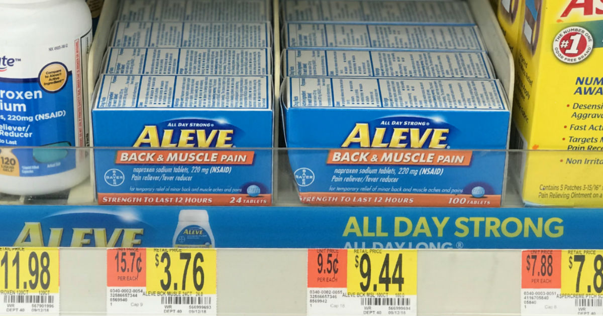 Aleve Back & Muscle Pain ONLY $0.76 at Walmart With NEW Coupon