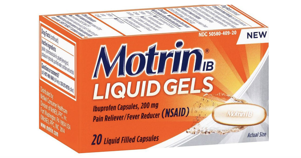 Motrin at Walmart