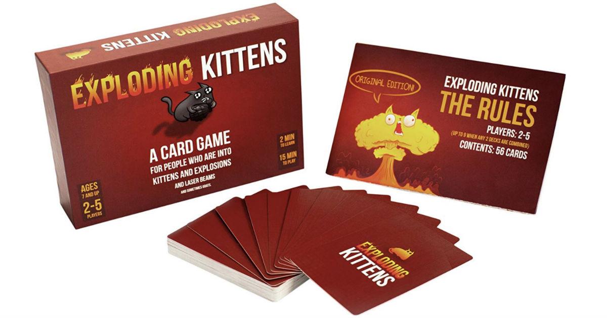 Exploding Kittens Card Game ONLY $13.99 (Reg $20)