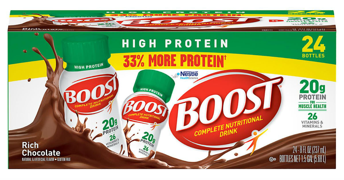 Boost High Protein Nutritional Drink 24-Pk ONLY $17.14 Shipped
