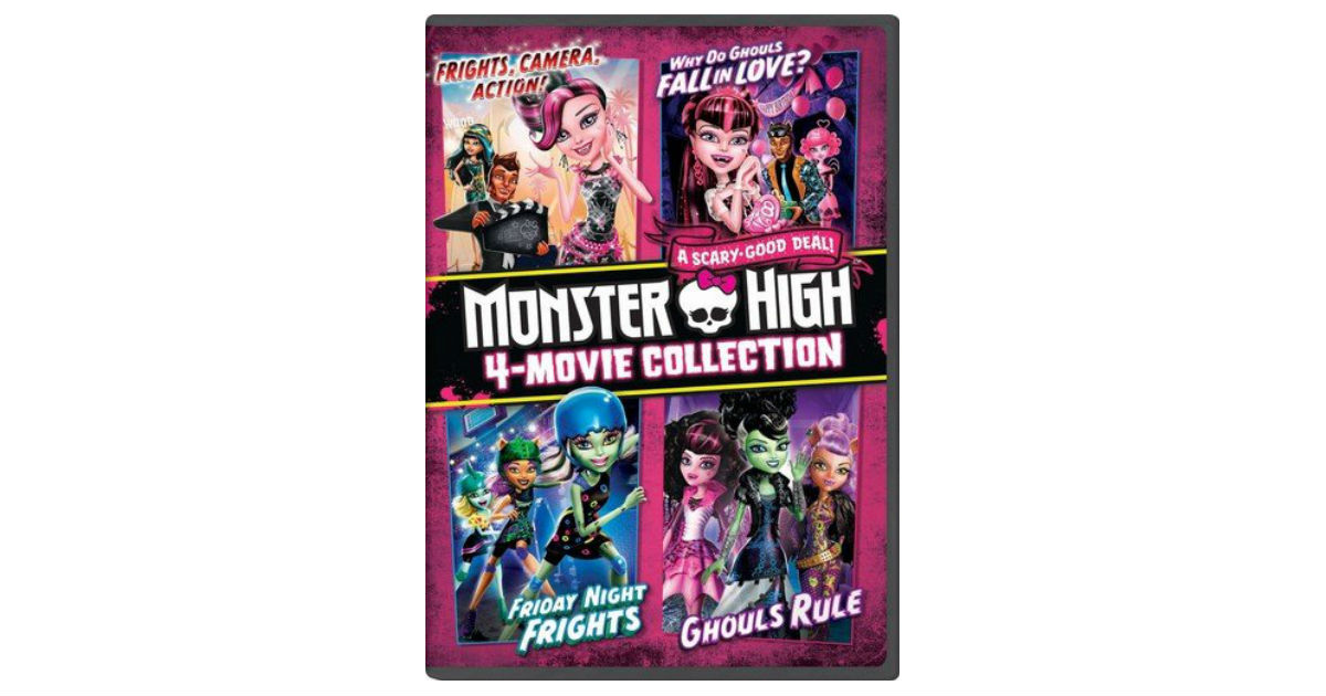 Monster High 4-Movie Collection ONLY $7.99 (Reg. $17)