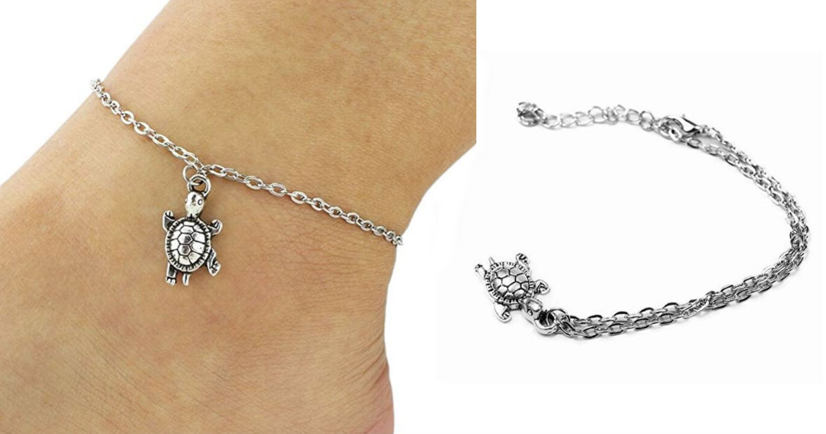 Cute Turtle Anklet Pendant Bracelet ONLY $2 Shipped