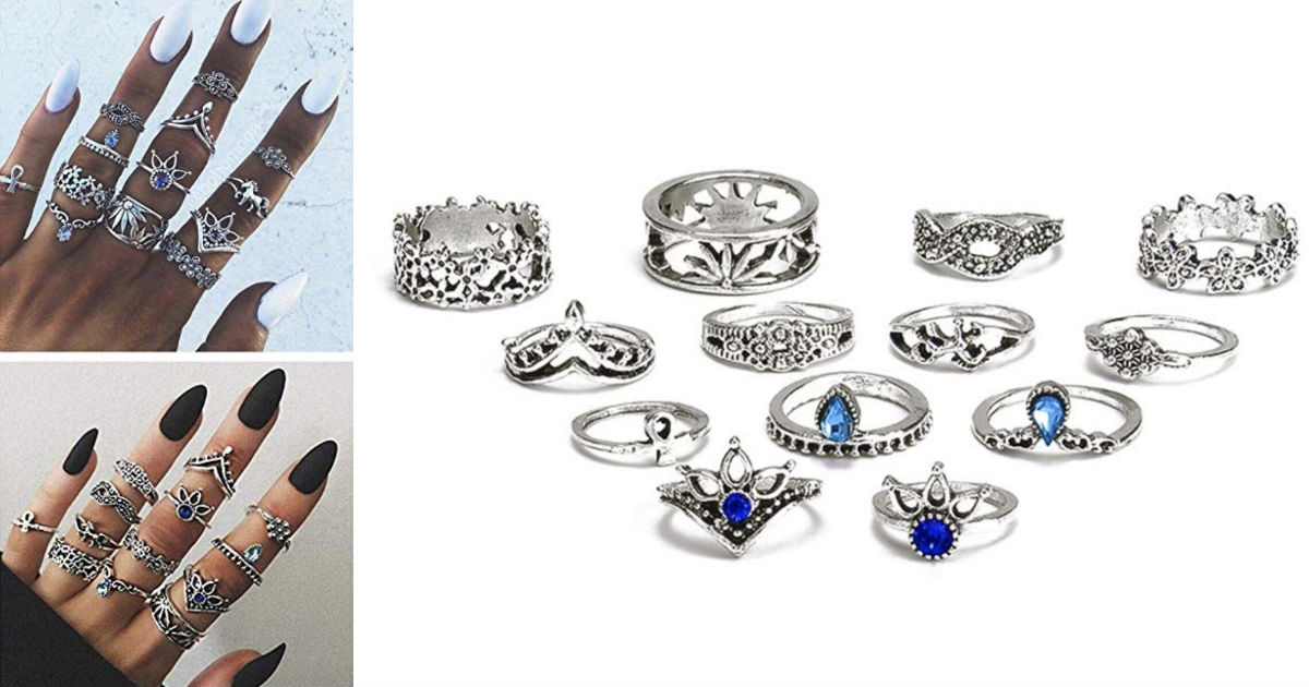 13-Piece Ring Set ONLY $4.99 S...