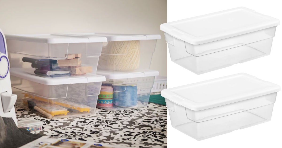 Sterilite 6 Qt Clear Storage Box White Lid ONLY $0.89 at Target