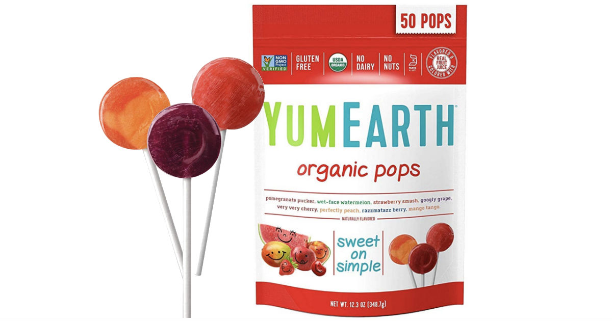 YumEarth Organic Lollipops 50-Pack ONLY $4.54 Shipped