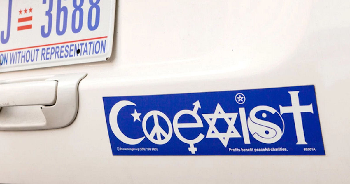 FREE Coexist Sticker...