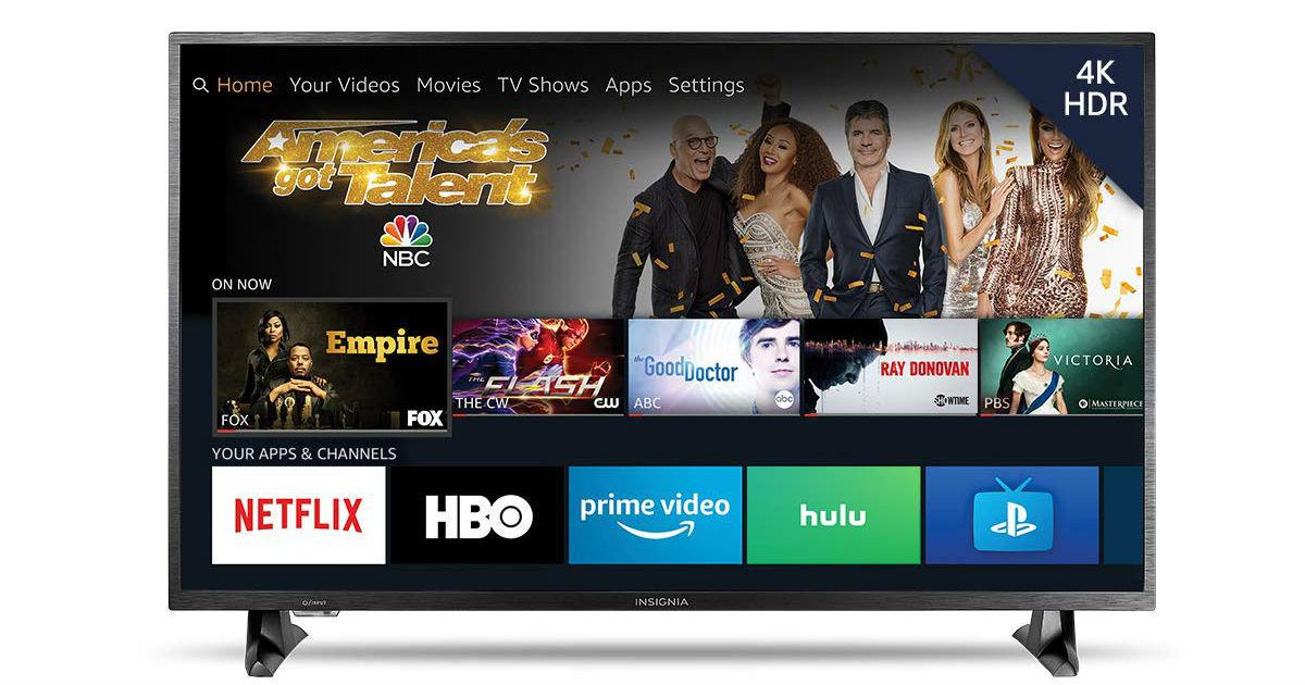 Insignia 43-Inch 4K Ultra HD Fire TV ONLY $199.99 (Reg. $300)