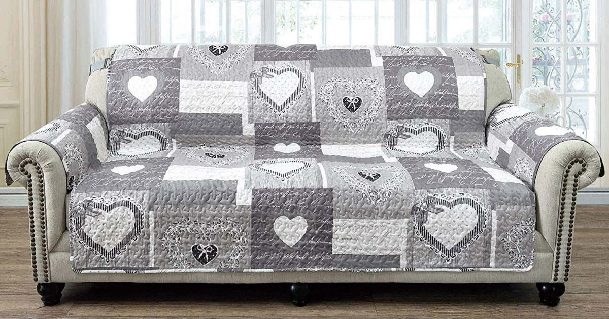 Patchwork Sofa Protector ONLY $23.58 (Reg. $56)