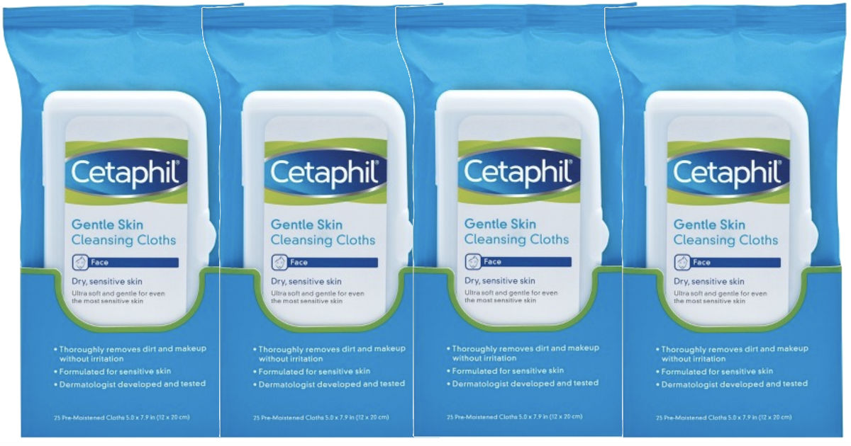 4 FREE Cetaphil Cloths Gentle Skin Cleansing at Target