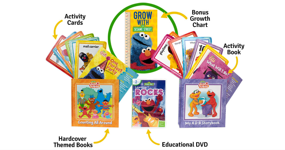 Elmo's Learning Kit: 2 Hardcover Books, DVD & More ONLY $3.99
