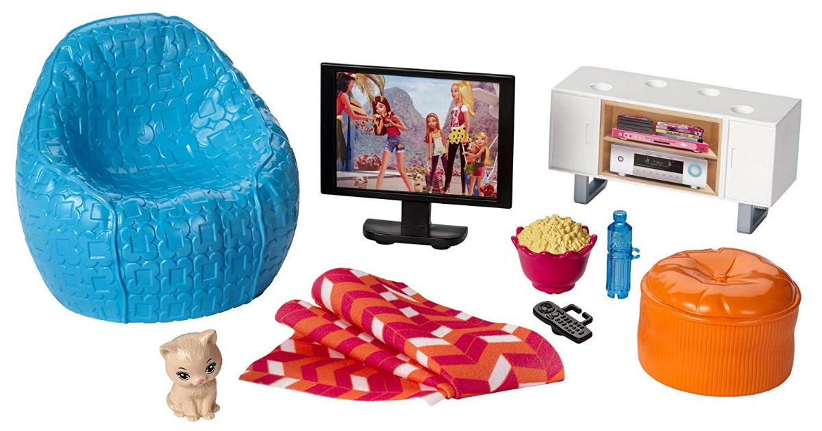 Barbie Movie Night & Accessories Playset ONLY $9.97 (Reg. $30)