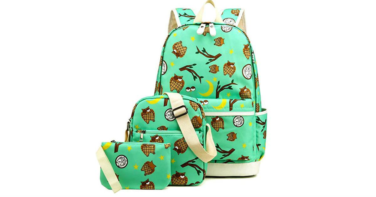Kemy's Owl Backpack Set ONLY $19.99 (Reg. $60)