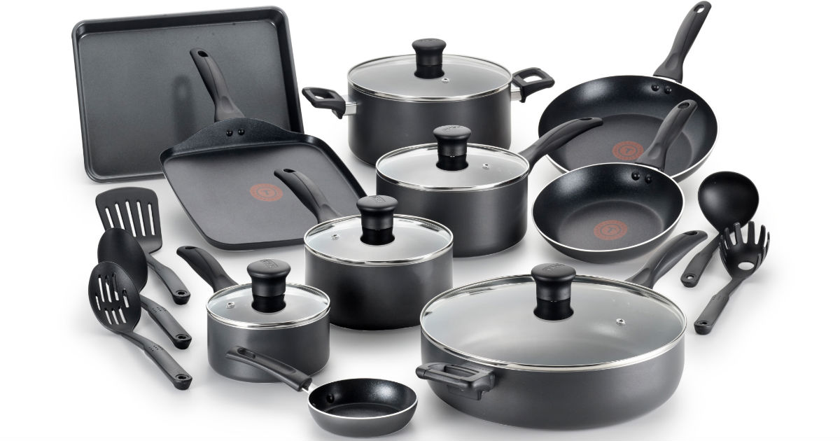 T-fal Non-Stick 20-Piece Cookware Set ONLY $59.99 Shipped