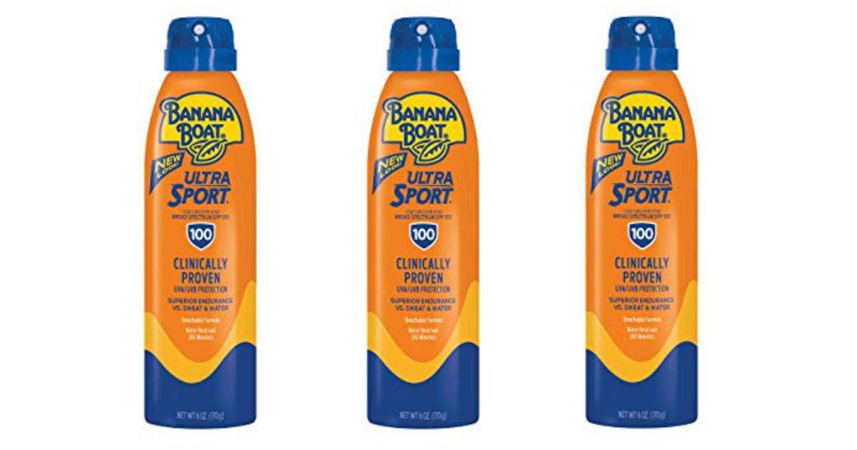 Banana Boat Ultra Sport Sunscreen ONLY $4.60 Shipped