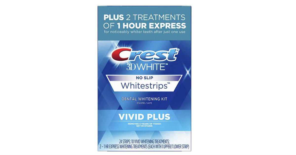 Crest 3D White Whitestrips Vivid Plus ONLY $19.99 (Reg. $30)
