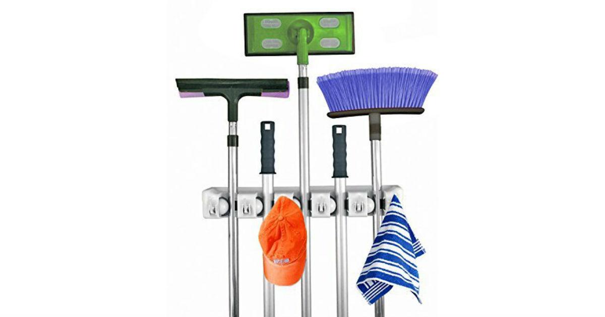 Mop and Broom Holder ONLY $9.00 (Reg. $20)