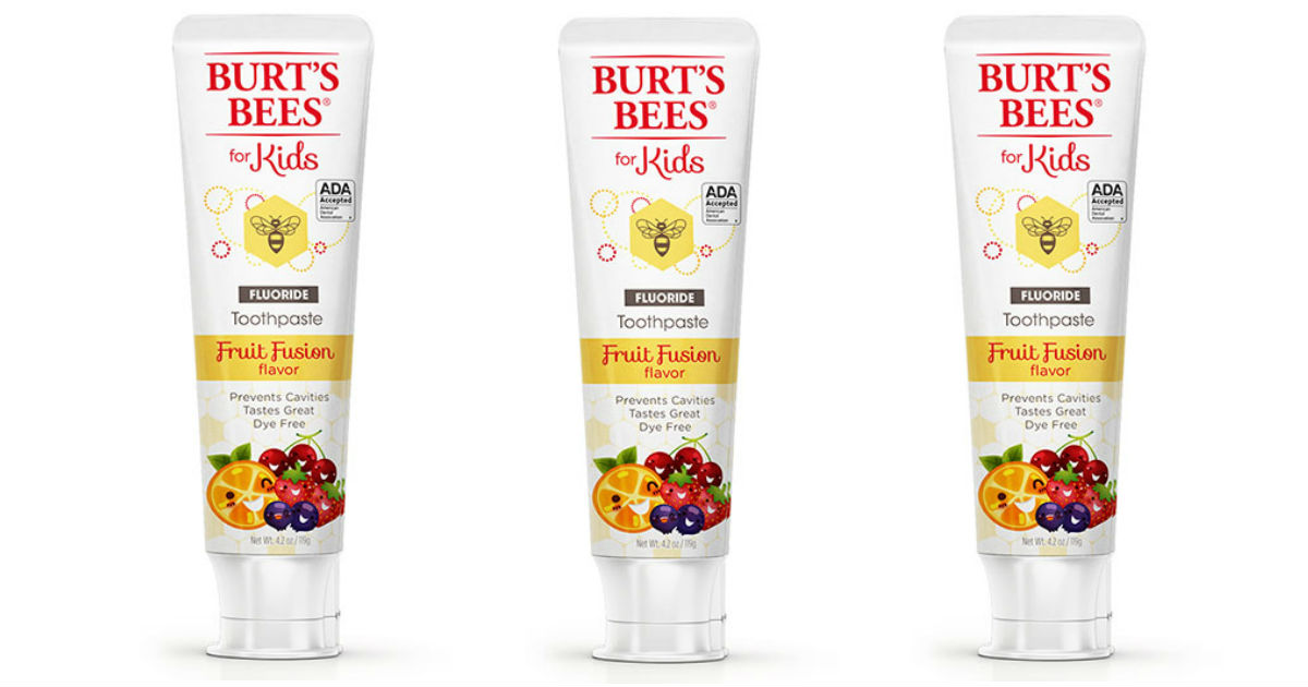 graphic relating to Burt's Bees Coupons Printable identify Burts Bees Toothpaste for Children Simply $0.82 at Aim