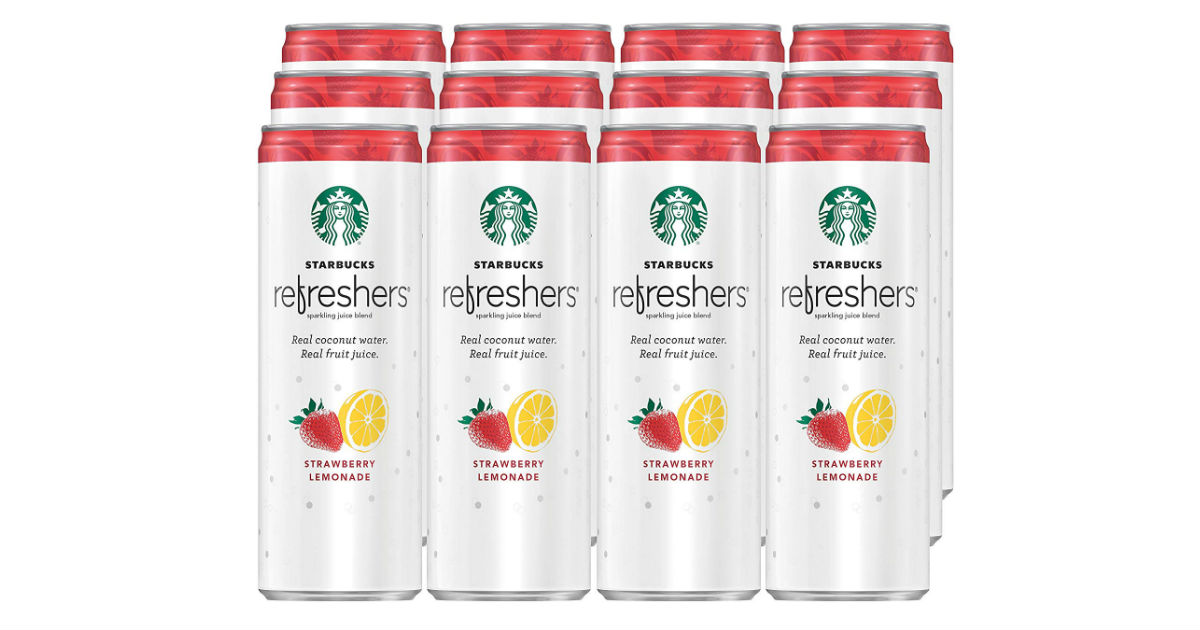 Starbucks Refreshers w/ Coconut Water 12-Pk ONLY $10.62 Shipped