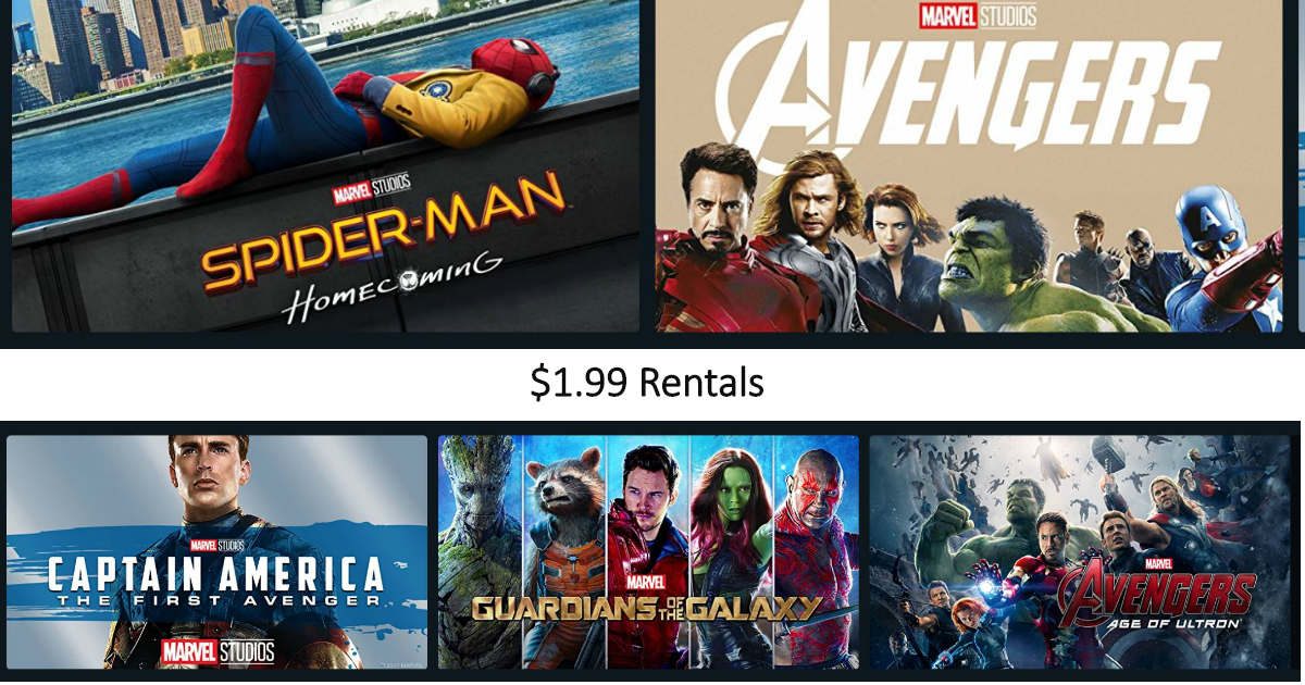 Marvel Movies ONLY $1.99 to Re...