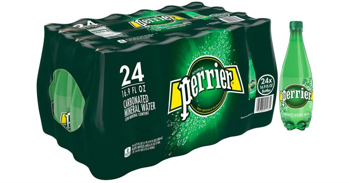 Perrier Sparkling Mineral Water 24-Pack ONLY $12.60 on Amazon