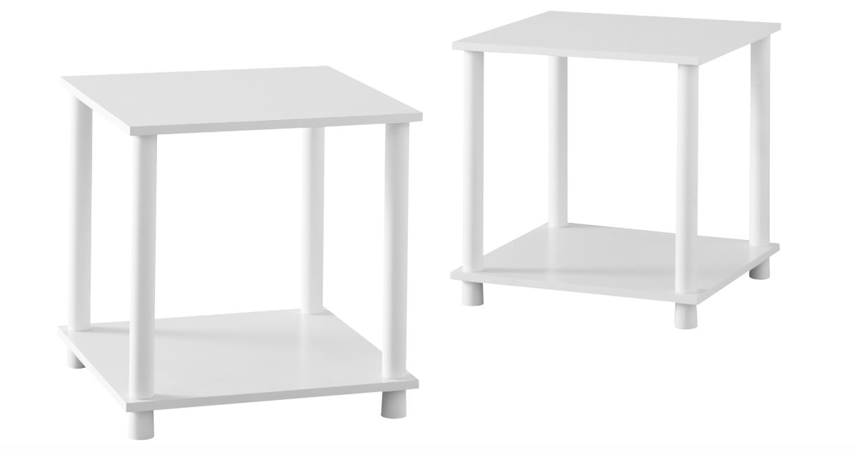 Mainstays Cube End Table 2-ct ONLY $9.78 at Walmart