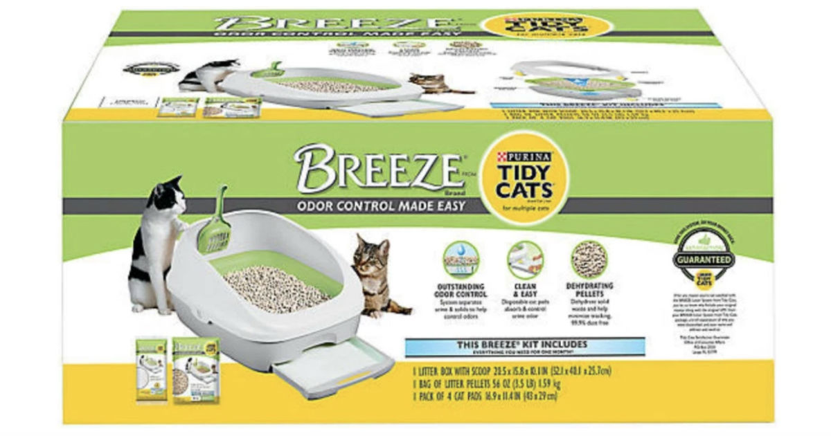 Purina Tidy Cats Breeze Cat Litter Box System Only $16.50