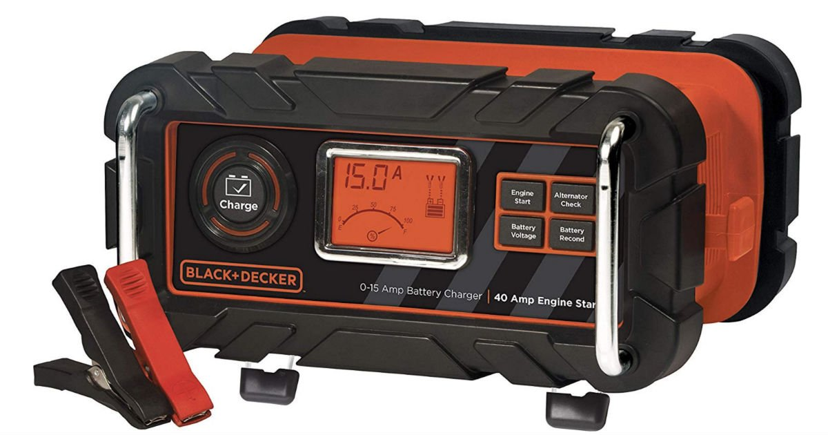 Black+Decker Fully Automatic Bench Battery Charger ONLY $35.98
