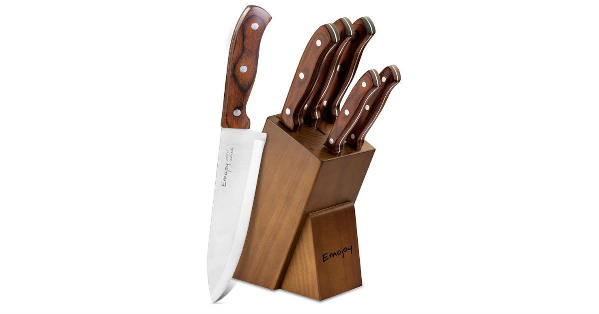 Kitchen 6-Piece Knife Block Set ONLY $18.49 (Reg. $27)