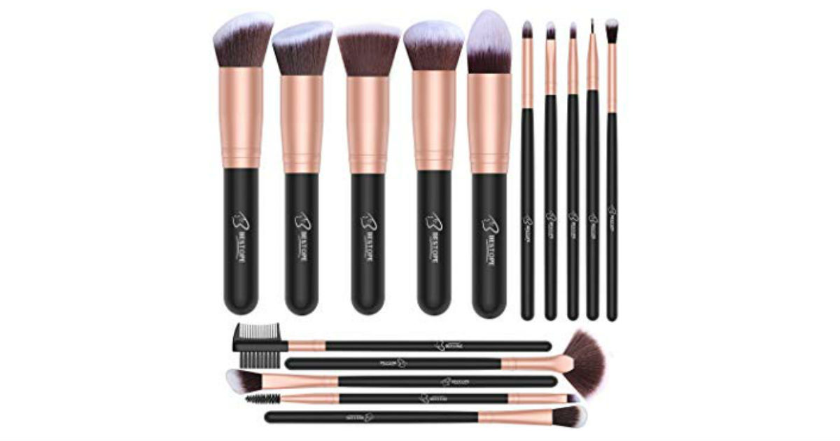 Bestope 16-Piece Makeup Brush Set ONLY $7.99 on Amazon