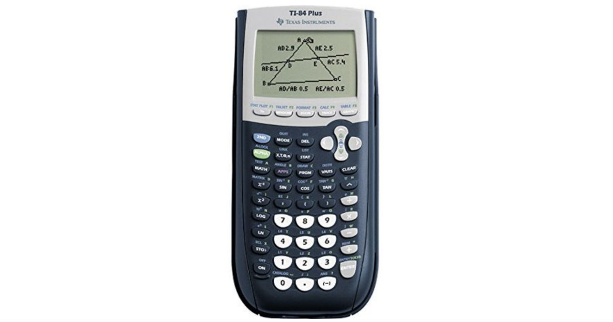 Texas Instruments TI-84 Plus Graphing Calculator ONLY $88